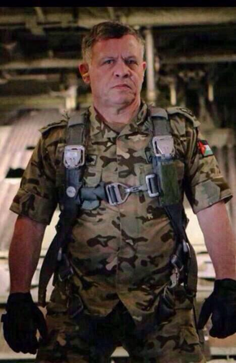 'Hard. Core:' Jordan's King Abdullah in combat gear and ready to fight ISIS?; Updated [photos]   Twitchy